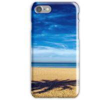 Solitude on empty beach iPhone Case/Skin