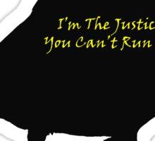 Black Canary Silhouette Sticker