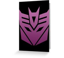 Decepticon Greeting Card