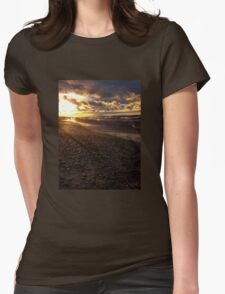 Stormy Superior Sunset Womens Fitted T-Shirt