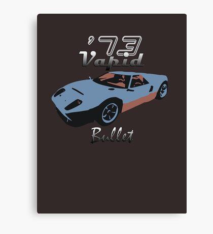 Vapid Bullet - Blue Canvas Print