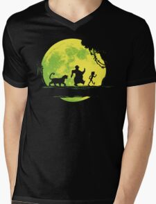 Jungle Moonwalk Mens V-Neck T-Shirt