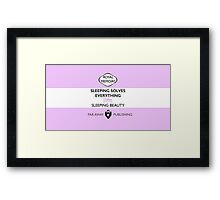 Sleeping Beauty Memoir Framed Print