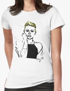 Blue Eyed Miley Womens Fitted T-Shirt