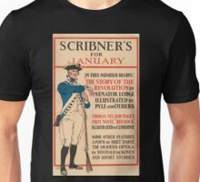 Artist Posters Scribner's for January In this number begins the story of the revolution by Senator Lodge 0750 Unisex T-Shirt
