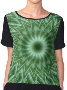 Green Stripes Kaleidoscope 10 Chiffon Top