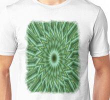 Green Stripes Kaleidoscope 10 Unisex T-Shirt