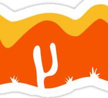 pattern desert evening night sunset sunrise kakten cactus hot hot Sticker