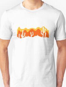 pattern desert evening night sunset sunrise kakten cactus hot hot Unisex T-Shirt