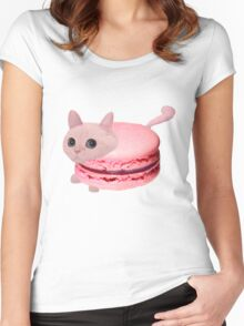 Macaroon Cat Women's Fitted Scoop T-Shirt