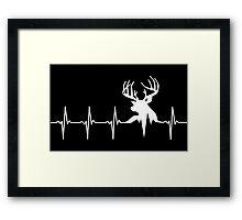 Hunting Deer Heartbeat Deer Framed Print