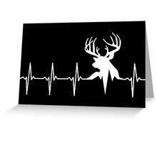 Hunting Deer Heartbeat Deer Greeting Card