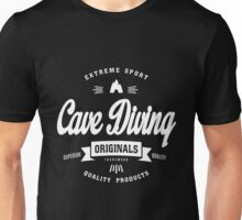 Cave Diving Extreme Sport White Design Art Unisex T-Shirt