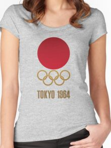 Japan Retro Tokyo Olympics 1964 Women's Fitted Scoop T-Shirt