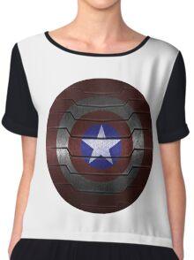 Metal Steve and Bucky Shield Chiffon Top
