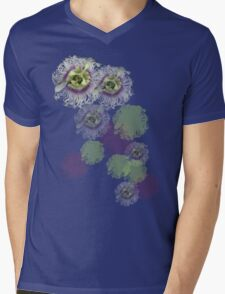 Passion Flower Mens V-Neck T-Shirt