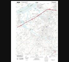 USGS TOPO Map New Jersey NJ Woodbury 20110506 TM Unisex T-Shirt