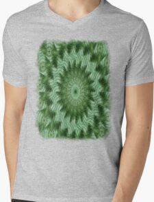 Green Stripes Kaleidoscope 9 Mens V-Neck T-Shirt