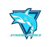 Cynical Sharks Logo Photographic Print