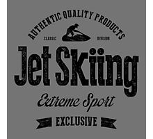 JetSkiing Extreme Sport Black Art Photographic Print