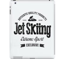 JetSkiing Extreme Sport Black Art iPad Case/Skin