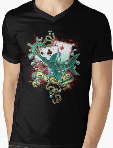 Poker Shark (black)  Mens V-Neck T-Shirt