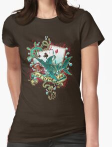 Poker Shark (black)  Womens Fitted T-Shirt