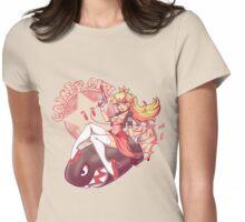 Gamer Girl Peach Womens Fitted T-Shirt