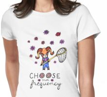 Choose Your Frequency: Bighorn Sheep Ram Whimsical Watercolor Illustration Womens Fitted T-Shirt