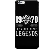 1970 - THE BIRTH OF LEGENDS iPhone Case/Skin
