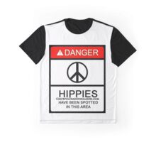 Danger! Hippies! Graphic T-Shirt