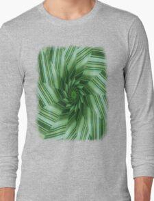 Green Stripes Kaleidoscope 7 Long Sleeve T-Shirt
