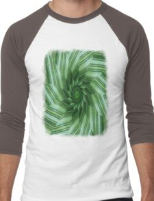 Green Stripes Kaleidoscope 7 Men's Baseball ¾ T-Shirt