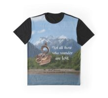 Not all Those who Wander are Lost, Tolkien, LOTR (scenic background) Graphic T-Shirt