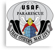 USAF Pararescue - Air Force Parachute Rescue Canvas Print