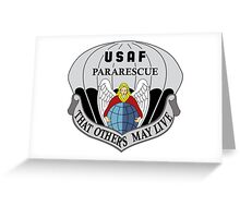 USAF Pararescue - Air Force Parachute Rescue Greeting Card