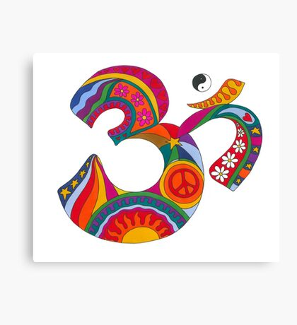 Fat Psychedelic Om Canvas Print