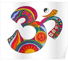Fat Psychedelic Om Poster