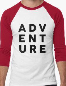 ADV ENT URE Men's Baseball ¾ T-Shirt
