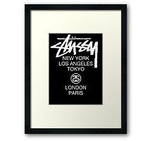 Stussy Logo Location high quality  Framed Print