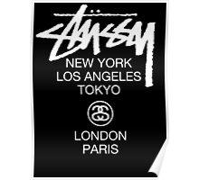 Stussy Logo Location high quality  Poster