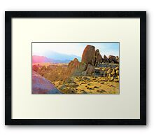 Movie Flat Face at sunset Framed Print