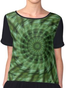Green Stripes Kaleidoscope 6 Chiffon Top