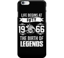 LIFE BEGINS AT 50 iPhone Case/Skin