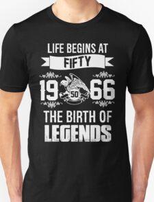 LIFE BEGINS AT 50 Unisex T-Shirt