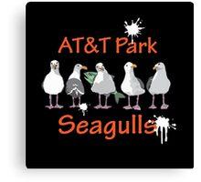 AT&T Park Seagulls  Canvas Print