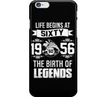 LIFE BEGINS AT 60 iPhone Case/Skin