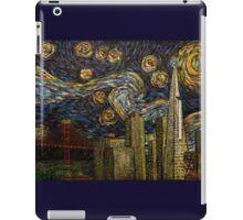 Dedication to Van Gogh: San Francisco Starry Night iPad Case/Skin