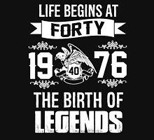 LIFE BEGINS AT 40 Unisex T-Shirt