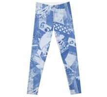 Indigo India Fabrics Pattern Leggings